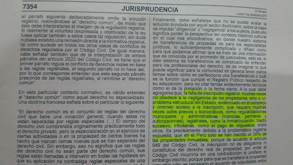Texto de la sentencia del VII Pleno Casatorio Civil.