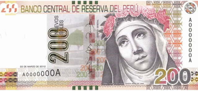Billetes del Perú.